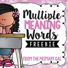 multiple meaning words freebie worksheets for all