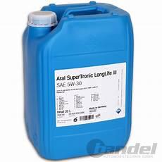 4 50 l 20 liter kanister aral supertronic longlife 3 5w