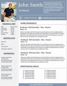 yacht resume get help affordable superyacht cv pulse linkedin cv design template cv