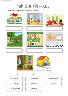 places in the house worksheets 15999 parts of the house interactive worksheet
