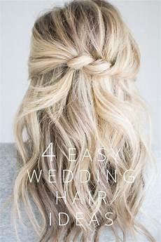 4 easy wedding hair ideas h a i r t u t o r i a l s