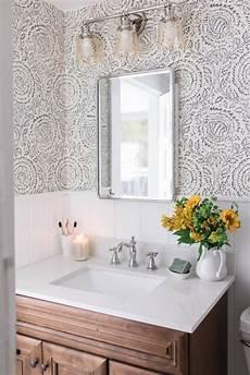 wallpaper bathroom ideas modern farmhouse style bathroom makeover reveal farmhouse on boone
