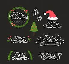 merry christmas art word vector free download