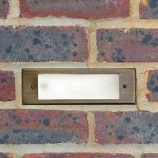 12v brick light brass bricklight charleston frosted glass garden light