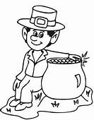 Leprechaun Coloring Pages 10  For Kids