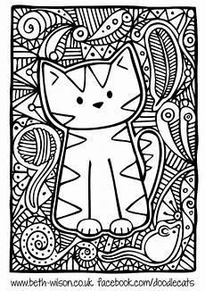 free coloring page 171 coloring adult difficult cute cat 187 para colorir pinterest coloring