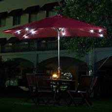 best rectangular patio umbrella with solar lights 5 top rectangular solar umbrellas