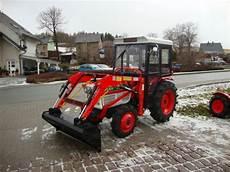 kleintraktor kubota l2402 gebraucht mit neuem frontlader