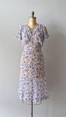 Cotton Voile 1930s Dress Vintage 30s Dress Bloom