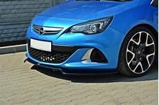 Front Splitter Opel Astra J Opc Vxr V 2 Gloss Black