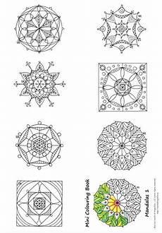 Mandala Klein - mini mandalas to color favecrafts