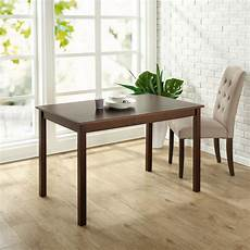 zinus espresso wood dining table hd dt a29 the home depot