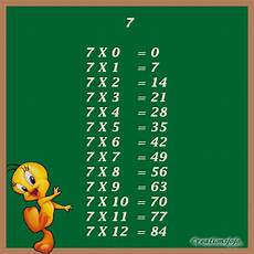 table de 7 tables de multiplication