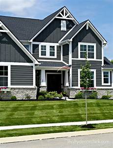 the exterior of our modern craftsman home exteriors