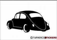 Vw Käfer Silhouette - 2x low vw classic beetle type 1 side rear silhouette