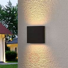 square led outdoor wall light trixy graphite grey