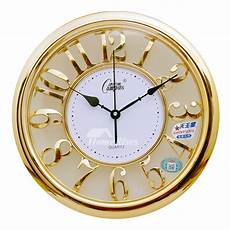 luxury gold gold wall clocks large abs glass unique