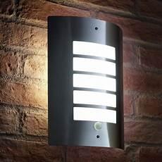 auraglow dusk till dawn daylight sensor outdoor wall light stainless steel cool white 9670cw