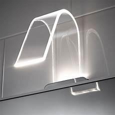 cascade curved acrylic mirror light