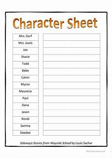 print character worksheets 19313 sideways stories character sheet worksheet free esl printable worksheets made by teachers