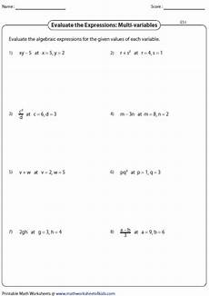 evaluating variable expressions worksheets evaluating algebraic expression worksheets