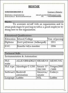 resume blog co resume sle free download in word doc diploma engineer with govt polytecnic