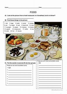 ela worksheets 15480 food esl worksheets for distance learning and physical classrooms