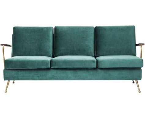 Samt-sofa Gamble (3-sitzer)