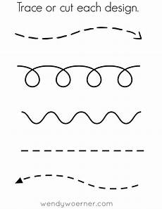 free printable cut trace preschool worksheet following