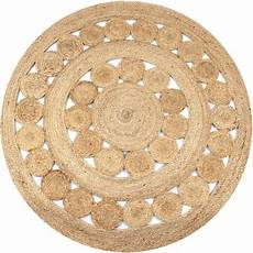 Runder Teppich 150 Cm - teppich flechtmuster jute 150 cm rund