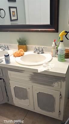 before after my pretty painted bathroom vanity