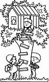 Spending Summertime In Tree House Coloring Page  Download
