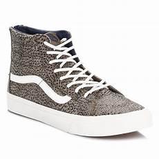 vans womens trainers cheetah suede sk8 hi slim lace up zip