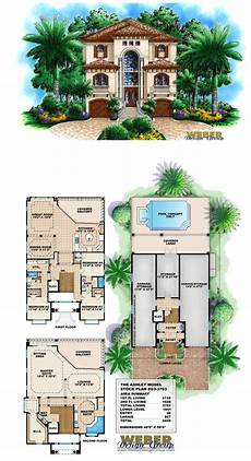 house plans for narrow lots on waterfront mediterranean house plan coastal narrow lot beach home