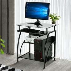 home office pc corner computer desk laptop table workstation furniture black ebay