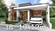 Modern Home Plan 10x12m With 3 Bedrooms