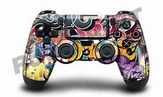 playstation 4 ps4 controller cover skin wrap graffiti bomb design ebay