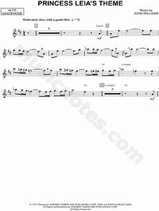 quot princess leia s theme alto sax quot from star wars sheet music alto saxophone solo in d major