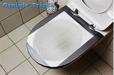 kloschüssel ohne rand trick aus asien toilettenverstopfung mit folie und