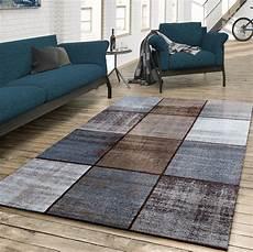 wohnzimmer teppiche teppich wohnzimmer modern kariert meliert braun grau beige