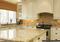 brown travertine backsplash tile subway plank design