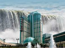world visits welcome to niagara falls colorful view in ontario canada