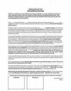 interview consent form