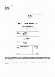 Mod 232 Le De Quittance De Loyer Doc Pdf Page 1 Sur 1