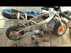 pocket bike tuning projekt 2009 big bore 3 snake pipe