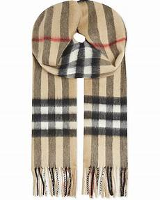 Burberry Large Check Scarf For In Beige