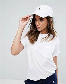 polo ralph cap in white asos