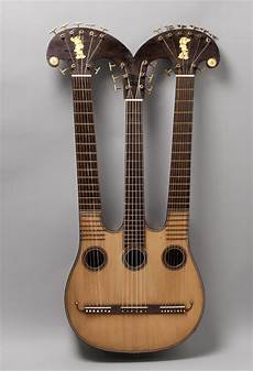 Three Neck Guitar Harpo Lyre This Is Classical Guitar