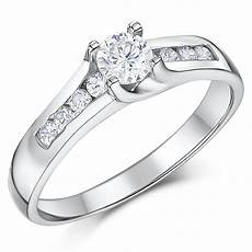 cobalt solitaire multi stone engagement 3mm wedding