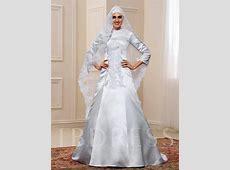 Appliques 3/4 Length Sleeve Matte Satin Muslim Wedding